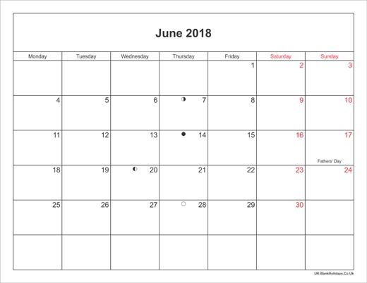 2018 full calendar printable