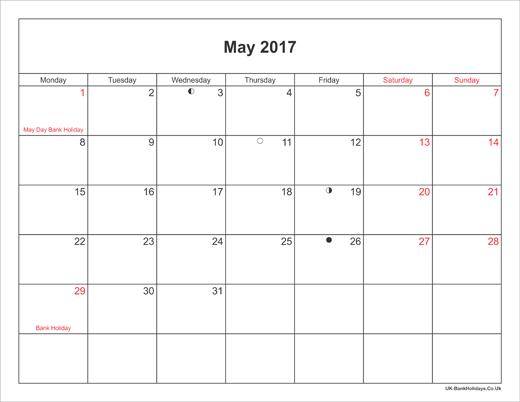 Calendar May Bank Holiday : Bank holidays in may uk lifehacked st